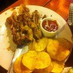 Frozen chicken and chips