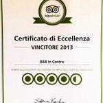 Certificato d'eccellenza 2013