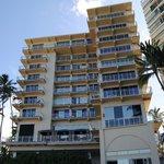 The New Otani Kaimana Beach Hotel - seen from the beach