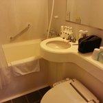 Tiny Bathroom, all Very good functional.