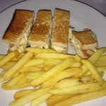 Have you ever seen a smaller Club sandwich in your life?‎