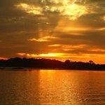 Sunset after piranha fishing