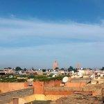 Panorama dalla terrazza del Riad