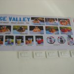 Ice Valley's Menu