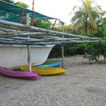 Kingfisher resort and their kayaks for rent