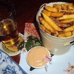 Batatas Rústicas saborosíssimas e com chopp ... hummm!