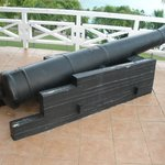 Cannon that was found when the Bar was built