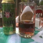 Cervecita en la vereda
