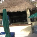 beside the pool snack bar