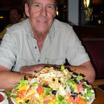 Southwest Salad with Chicken - beyond huge and tasty