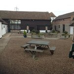 The courtyard at Dark Barn Lodge, Rudford