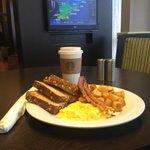 Fantastic breakfast at The Bistro with Starbucks Coffee