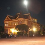Gingerbread Mansion under moon
