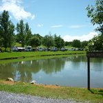 Beautiful RV sites along Lake Kerplonken