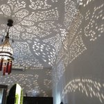 Filigree patterns on the ceiling
