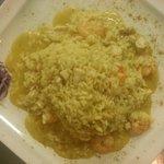 Risotto pollo churry gamberi