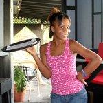our friendly waitress Michelle