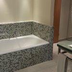 Both bathtub and shower