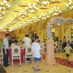 wedding in resturant of hotel check the chandiliers