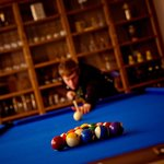 games room with pool and table football