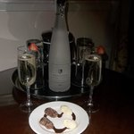 Our Prosecco and chocolates
