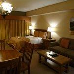 Schlafbereich der Suite