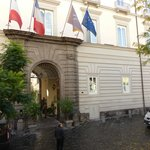 Front of Hotel in Via Carbonara