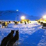The beautiful blue of the polar night