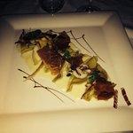Ravioli di castagne con speck e fonduta di formaggio