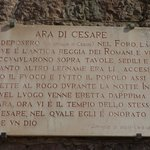 plaque about Altar of Caesar
