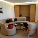 lounge area of suite