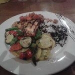 grilled salmon with amazing veggies and wild rice!