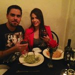 Romantic dinner with wife