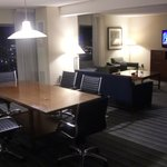 Hospitality suite at night