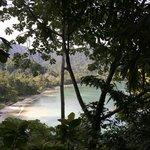 La plage vue du spa
