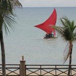Vista da varanda do apartamento linda praia de Cumbuco