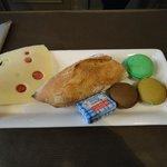 Café da manhã com macarons!