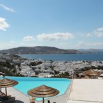 The amazing view over Mykonos town