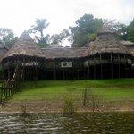 Zacambu Natural Reserve Lodge  from the Rio Yavari River