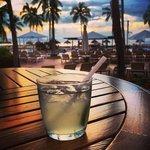 Margaritas on the lobby deck