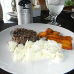 My personalized special request breakfast- egg whites, brown rice, & plantains