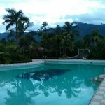 Adult swimming pool, amazing views of Mount Halcon, especially in the early morning