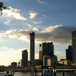 Brisbane CBD skyline with Meriton standing tall