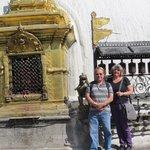 "At the ""monkey"" temple in Katmandu"