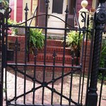 A charming front gate