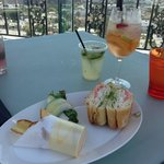 Rooftop lunch - delicious!