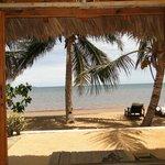 vue de notre bungalow 25