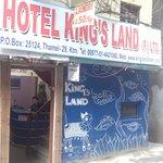 Entrance of King's Land Hotel (Thamel, Kathmandu)