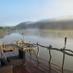 View from the lodge deck before the first game drive