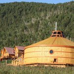 Comfortable wooden gers and lodge